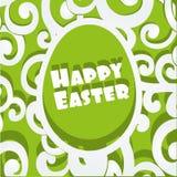 Insegna openwork felice dei appliqués dell'uovo di Pasqua Fotografia Stock Libera da Diritti