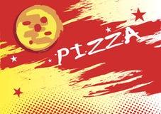 Insegna orizzontale astratta della pizza Fotografie Stock