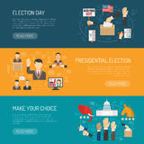 Insegna orizzontale di elezione Fotografie Stock
