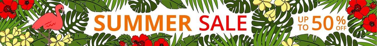 Insegna orizzontale di web di vendita di estate Fotografie Stock