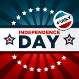 Insegna patriottica di festa dell'indipendenza Fotografia Stock