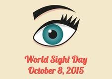 Insegna per il giorno di vista del mondo - 8 ottobre 2015 Fotografia Stock