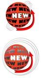 Insegna per il nuovo prodotto sotto forma della palla royalty illustrazione gratis