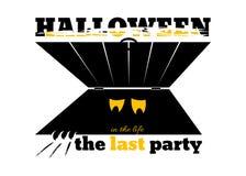 Insegna per il partito di Halloween Fotografia Stock Libera da Diritti