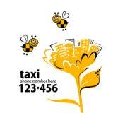 Insegna per servizio di taxi Fotografia Stock