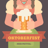 Insegna piana dell'illustrazione di Oktoberfest royalty illustrazione gratis