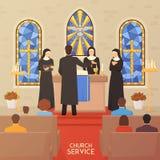 Insegna piana di cerimonia religiosa di funzione religiosa Immagine Stock