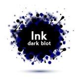 Insegna realistica della spruzzata dell'inchiostro Fotografia Stock Libera da Diritti