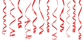 Insegna rossa dei nastri del partito illustrazione vettoriale