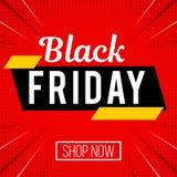 Insegna rossa di vendita di Black Friday illustrazione vettoriale