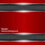Insegna rossa metallica del fondo astratto tecnologico illustrazione di stock