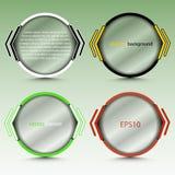 Insegna rotonda astratta con le citazioni trasparenti - per fondo, insieme in varie progettazioni Fotografia Stock