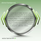 Insegna rotonda astratta con le citazioni trasparenti - per fondo, progettazione, web design Fotografia Stock Libera da Diritti