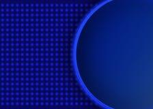 Insegna rotonda sul fondo opaco del mosaico blu Progettazione per la presentazione, concerto, manifestazione illustrazione vettoriale