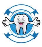 Insegna sorridente del dente del fumetto Immagini Stock Libere da Diritti
