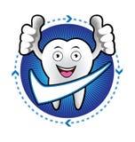 Insegna sorridente del dente del fumetto Immagine Stock