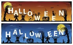Insegna spaventosa del fantasma felice di Halloween, illustrazione di vettore Royalty Illustrazione gratis