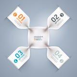 Insegna a spirale moderna di opzioni di infographics. Fotografie Stock