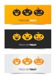 Insegna stabilita di web felice di Halloween Fotografie Stock