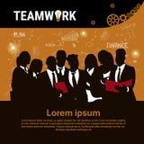 Insegna Startup di sviluppo di concetto di strategia di Team Brainstorm Teamwork Business Plan del gruppo delle persone di affari royalty illustrazione gratis