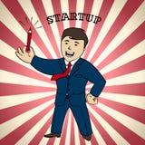 Insegna Startup, illustrazione di vettore Fotografia Stock