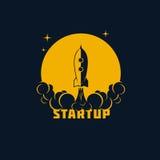Insegna Startup, modello di vettore Fotografia Stock