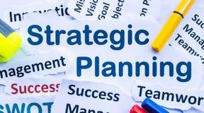 Insegna strategica di pianificazione Fotografie Stock Libere da Diritti