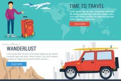 Insegna - tempo di viaggiare Immagini Stock Libere da Diritti