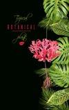 Insegna tropicale di verticale del fiore Immagini Stock Libere da Diritti