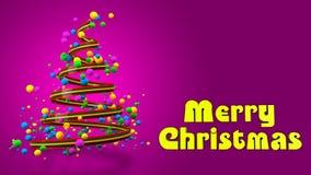 Insegna variopinta astratta dell'albero di Natale 3D fotografie stock