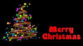 Insegna variopinta astratta dell'albero di Natale 3D fotografia stock libera da diritti