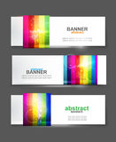 Insegna variopinta del Rainbow di vettore Fotografie Stock