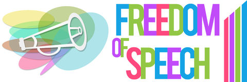Insegna variopinta di libertà di parola Immagine Stock Libera da Diritti