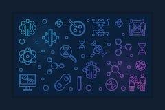Insegna variopinta di vettore del profilo genetico umano di modifica illustrazione di stock