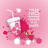 Insegna variopinta fresca di Juice Logo Healthy Vitamin Drink Bar Immagine Stock Libera da Diritti