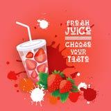 Insegna variopinta fresca di Juice Logo Healthy Vitamin Drink Bar Immagini Stock Libere da Diritti