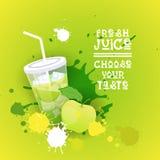 Insegna variopinta fresca di Juice Logo Healthy Vitamin Drink Bar Immagini Stock