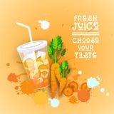 Insegna variopinta fresca di Juice Logo Healthy Vitamin Drink Bar Immagine Stock