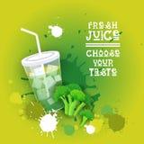 Insegna variopinta fresca di Juice Logo Healthy Vitamin Drink Bar Fotografia Stock
