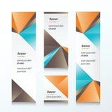 Insegna verticale del triangolo arancio, blu, marrone Immagine Stock