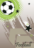 Insegna verticale di calcio con la grande freccia Fotografie Stock