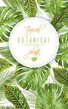 Insegna verticale tropicale Fotografia Stock