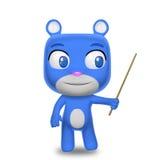 Insegnamento del carattere dell'orso Immagini Stock