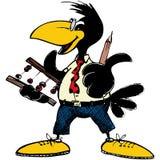 Insegnamento del corvo Fotografie Stock