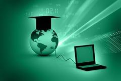 Insegnamento dell'informatica globale illustrazione di stock
