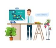 Insegnamento della guida Scuola guida o imparare guidare, istruzione, interna illustrazione vettoriale
