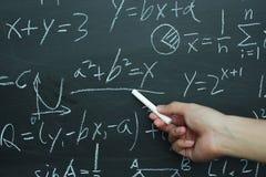 Insegnamento di per la matematica Immagine Stock Libera da Diritti