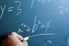 Insegnamento di per la matematica Immagini Stock