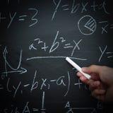 Insegnamento di per la matematica Fotografia Stock