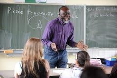 Insegnante africano Fotografia Stock
